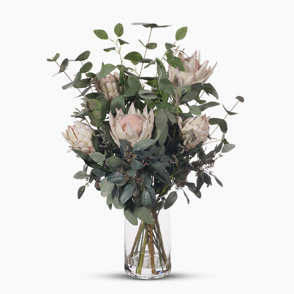 Cream pink protea and kangaroo paw mix (large)