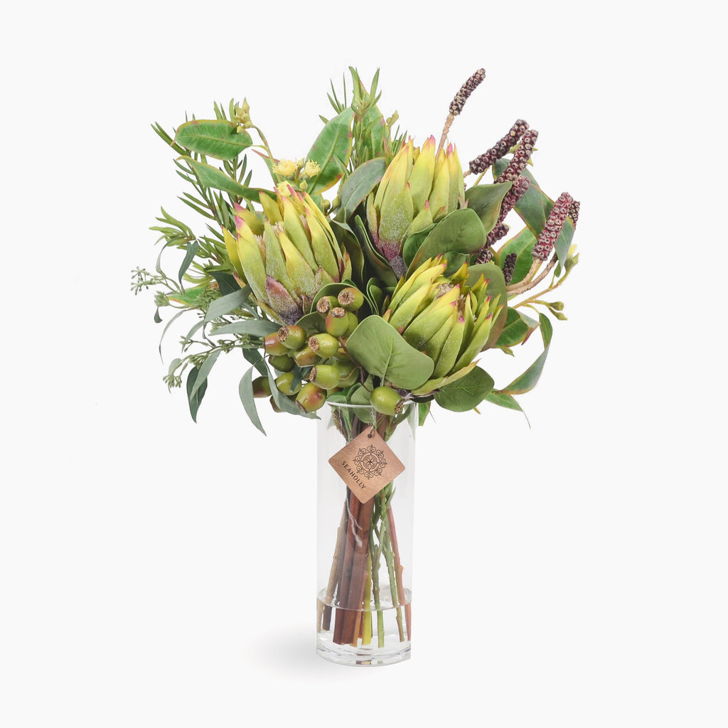 Green protea and bottlebrush pods (Large)
