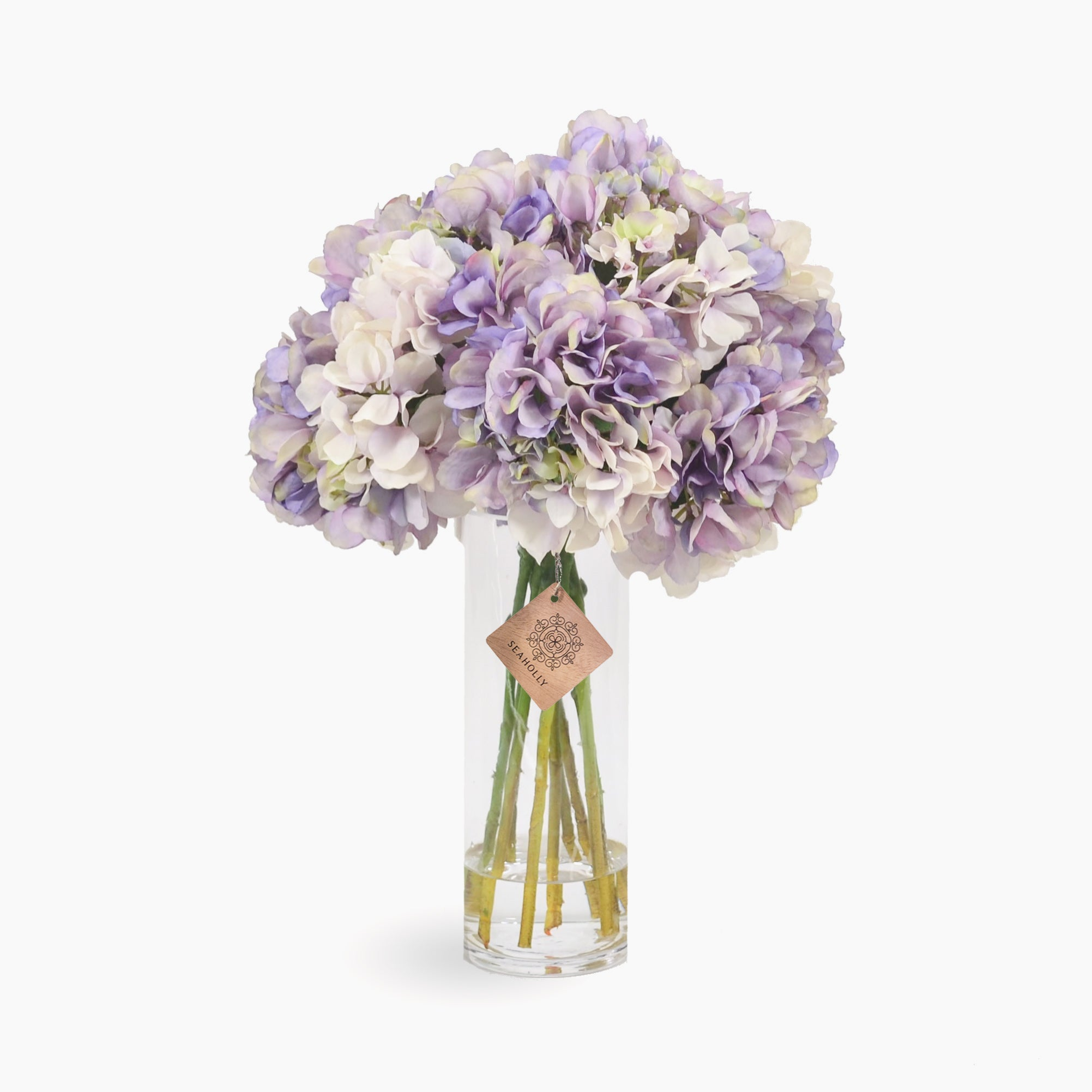 Lavender and green hydrangea arrangement (Large)
