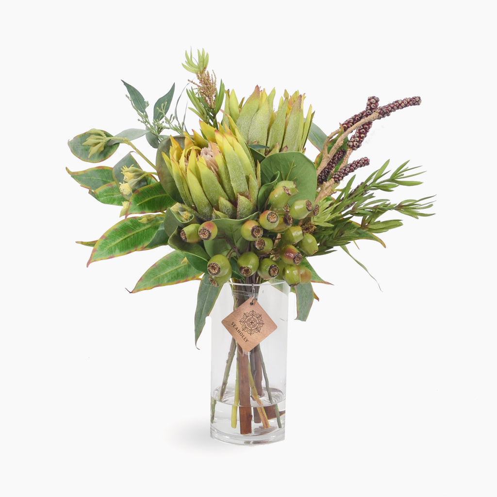 Green protea and bottlebrush pods (Medium)