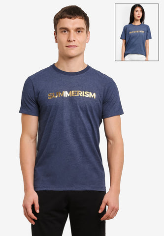 Summerism Gold Logo Tee - Dark Blue