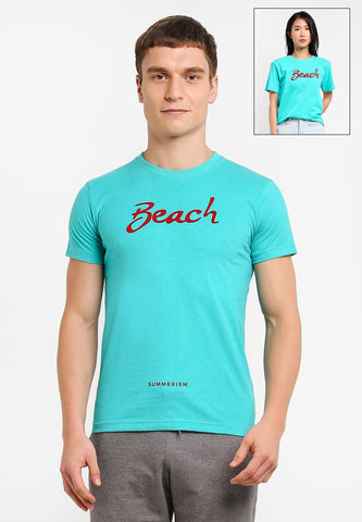 Beach Typo Tee - Mint