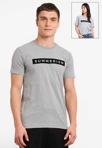 Summerism Box Tee - Grey