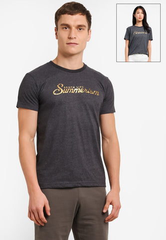 Summerism Gold Gliter - Summerism Brand Tee 100% Supersoft Cotton Unisex
