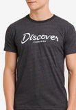 Discover Typo Short Sleeved Tee - Dark Grey