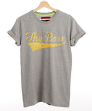 Custom Made Gold Glitter Name Lucky Number Vintage Feel Tee T Shirt