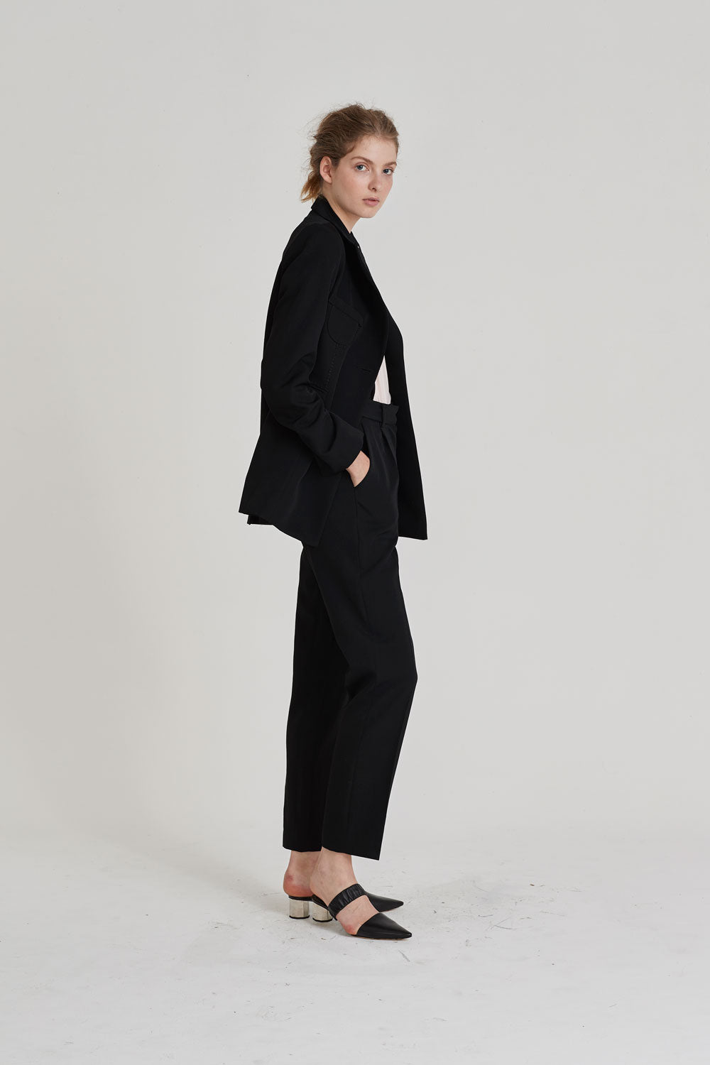 Partner Single Breasted Blazer Black - Wynn Hamlyn — Shop