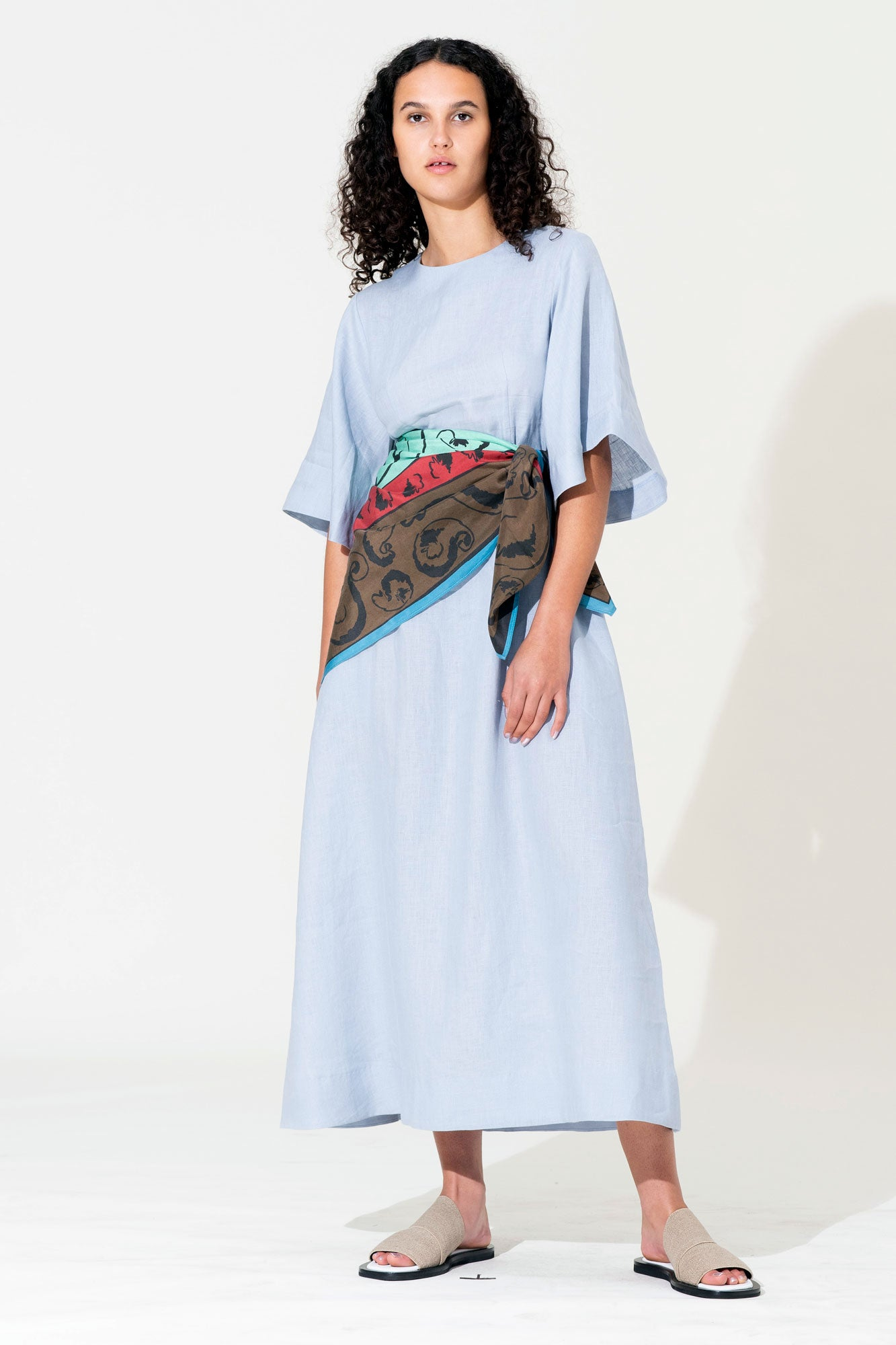 Scarf Maxi Dress - Glacier