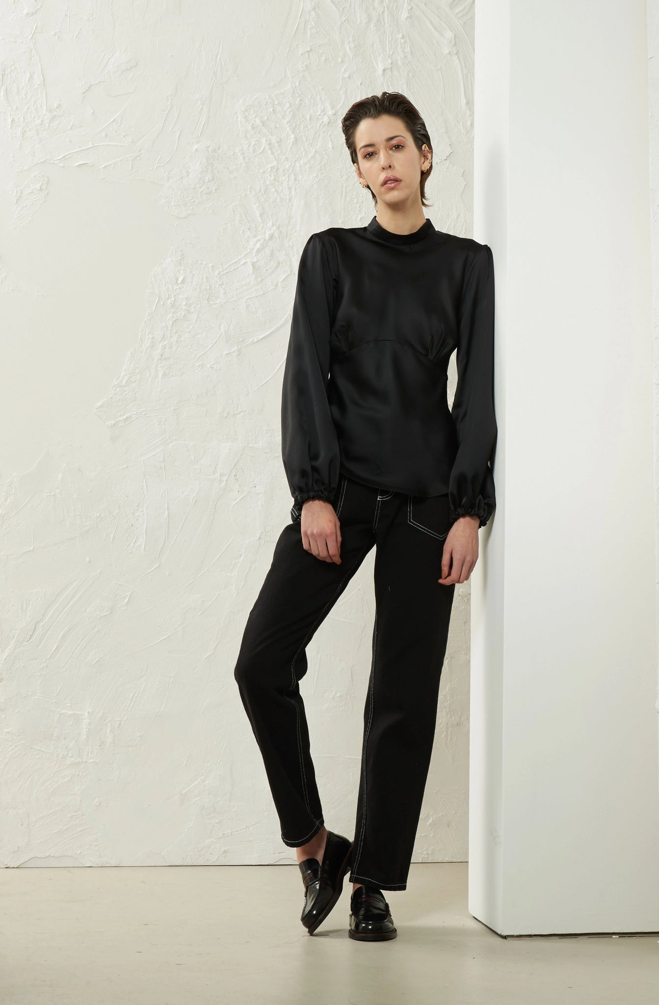 Bias Blouse Black - Wynn Hamlyn — Shop