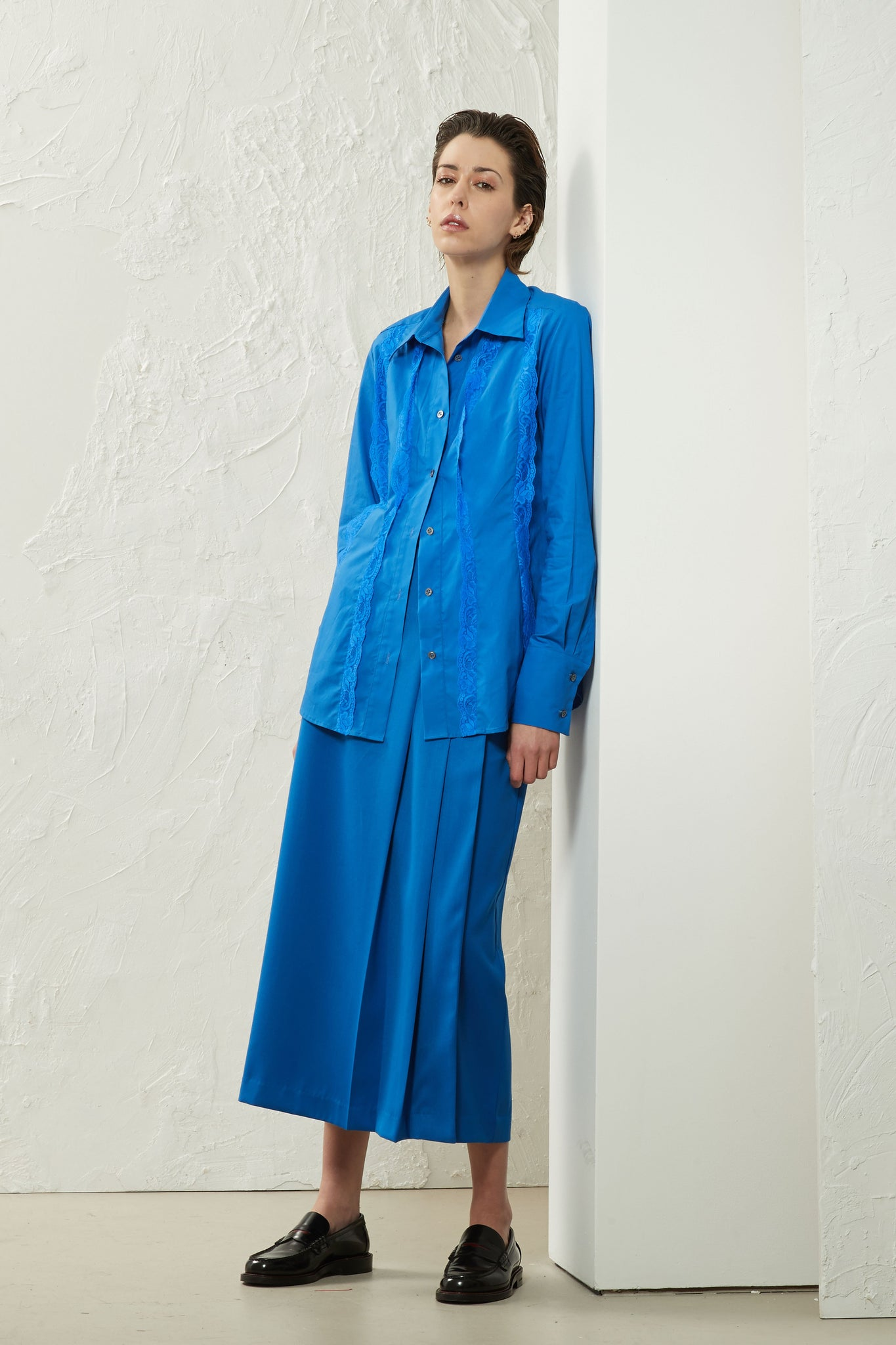 Pleat Skirt Cobalt - Wynn Hamlyn — Shop