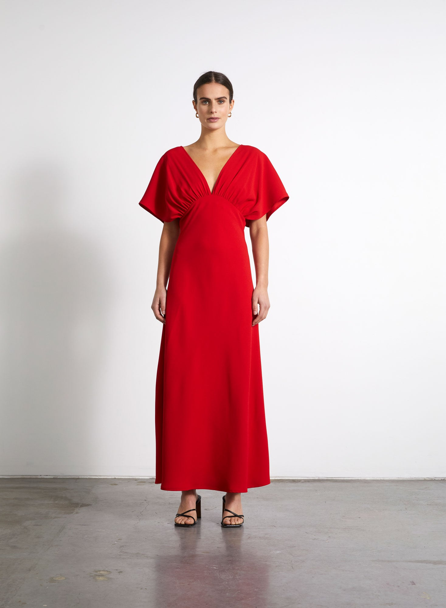 Gathered Dress - Red