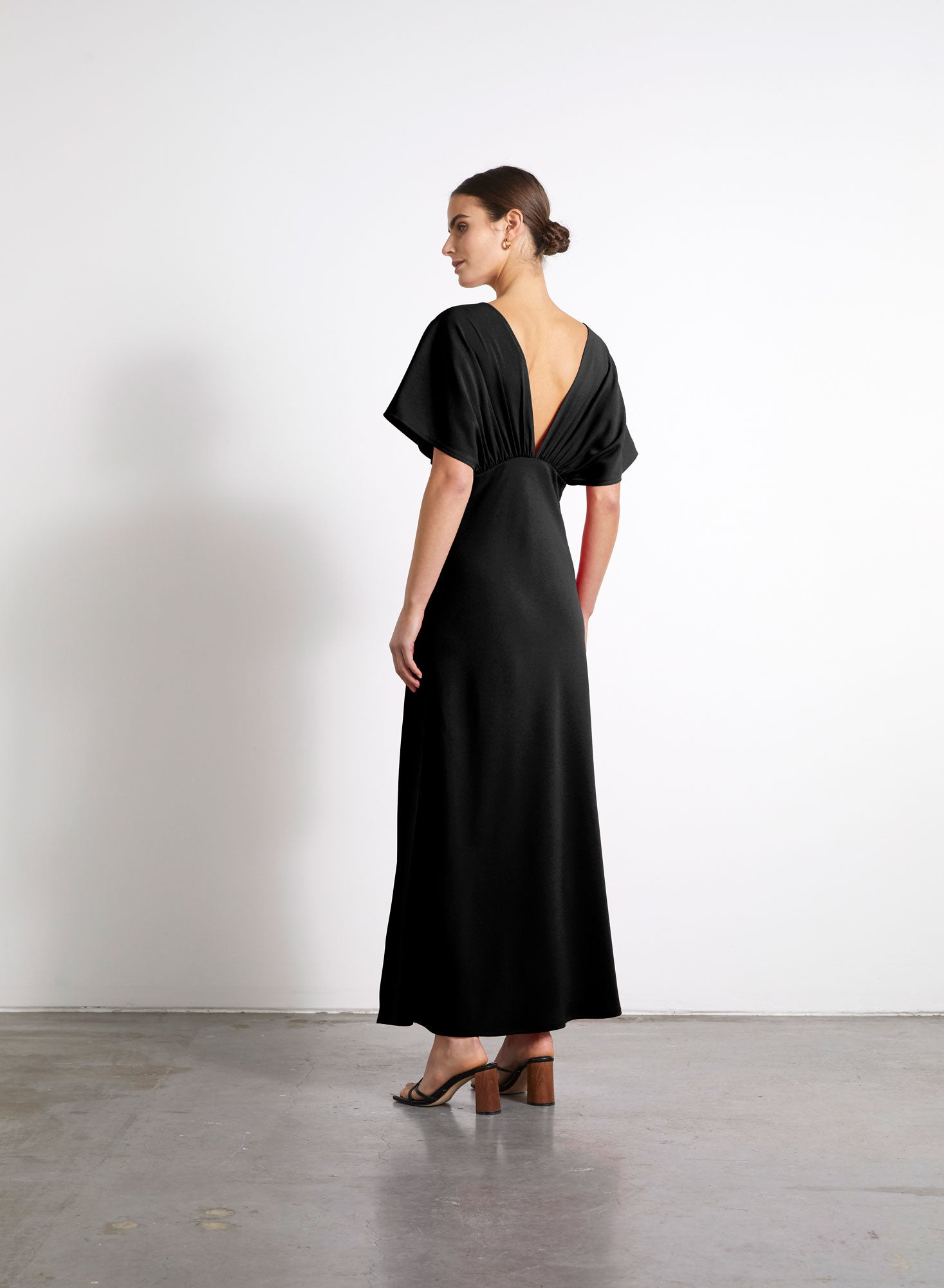 Gathered Dress - Black