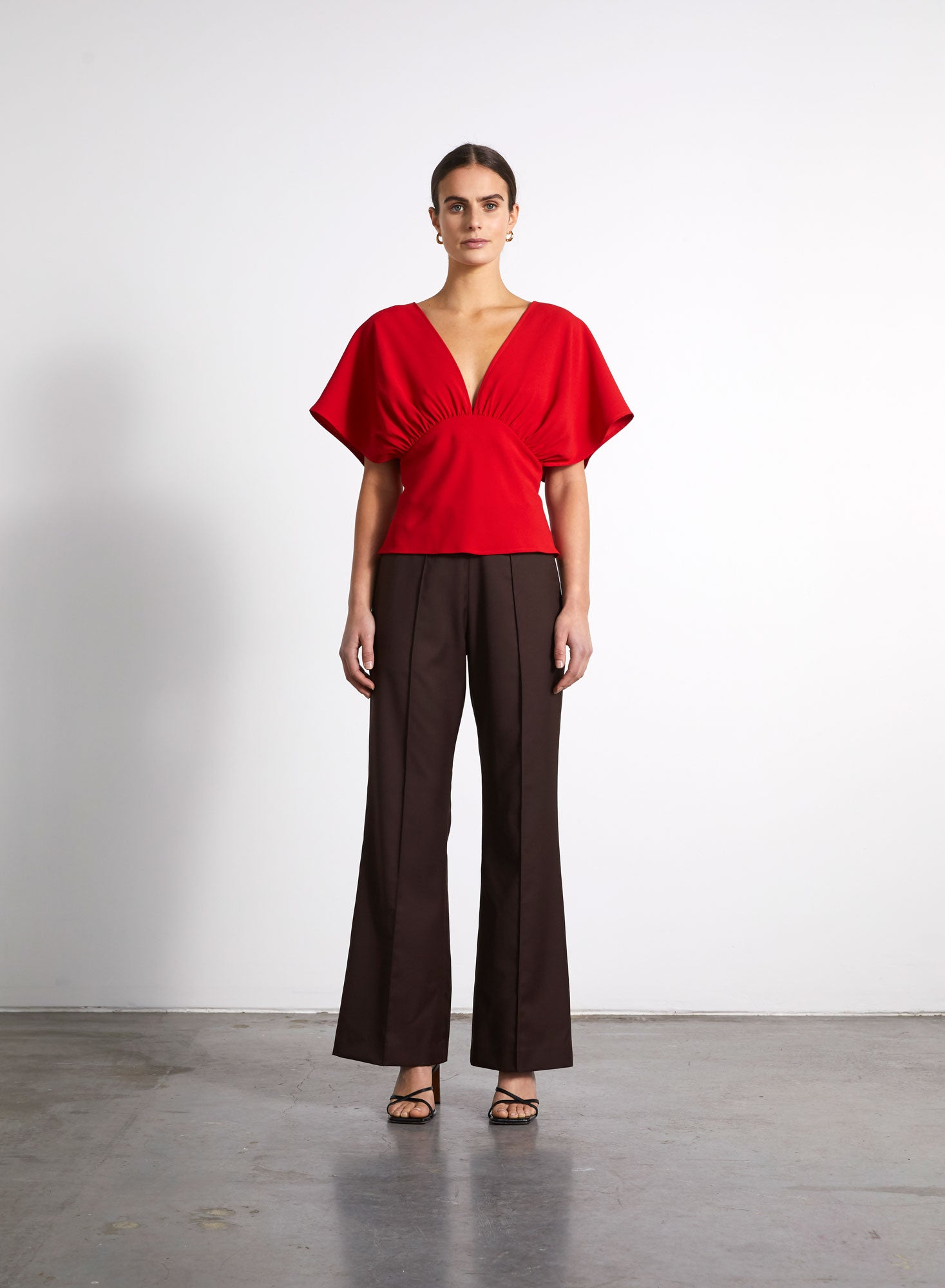 Gathered Top - Red