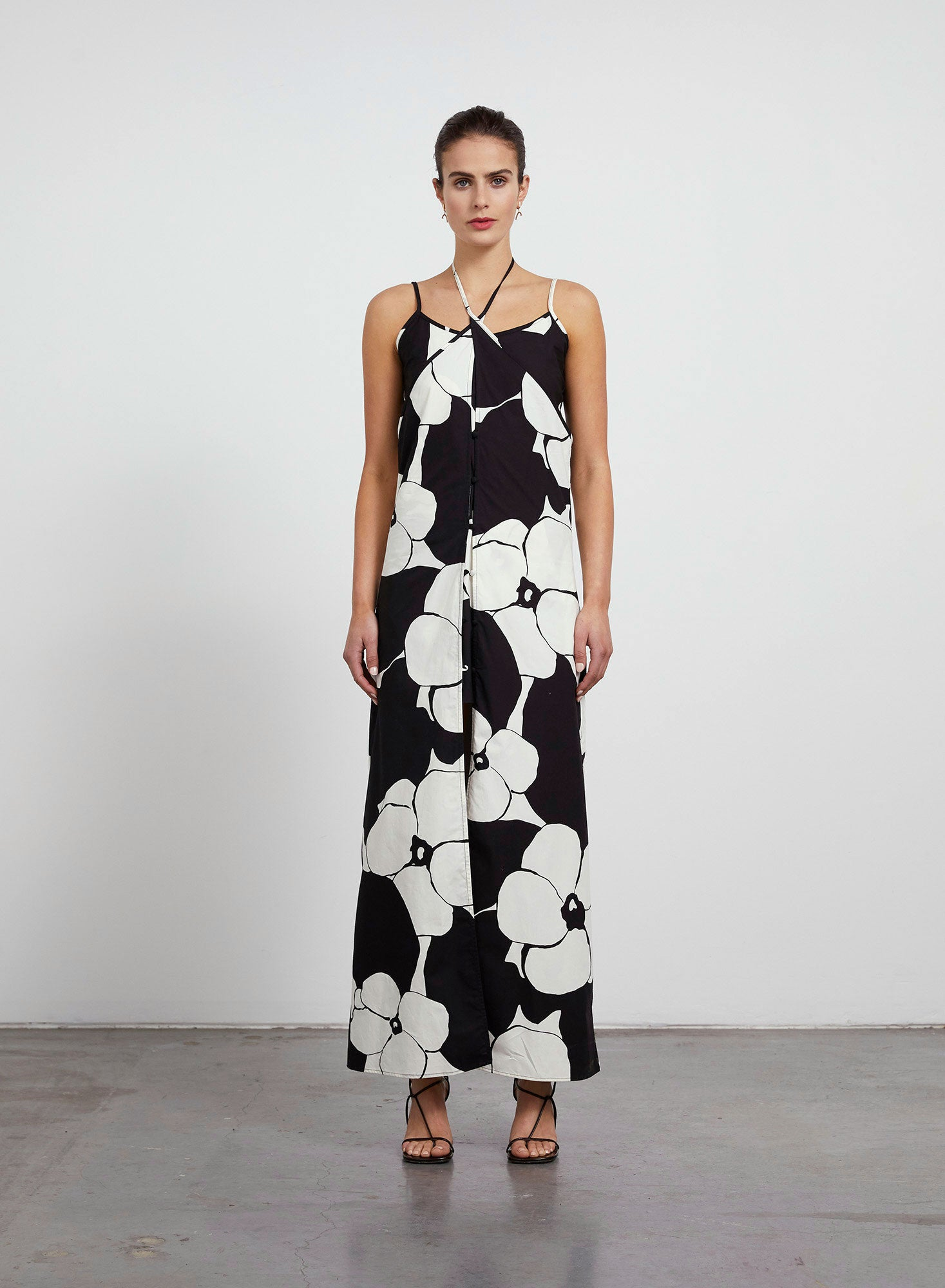Miranda Layered Slip Dress - Floral Print