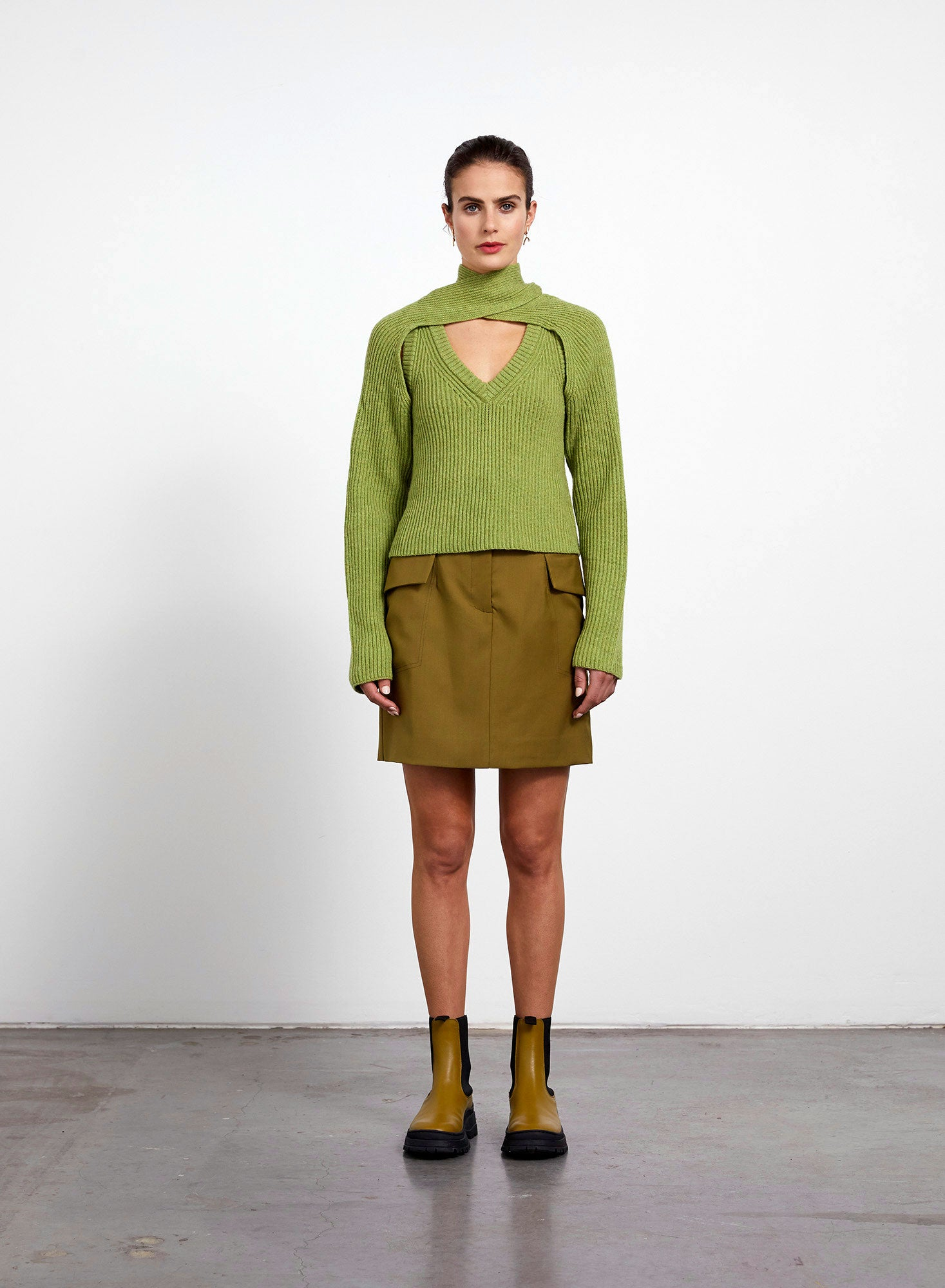 Loop Chunky Sweater - Sage