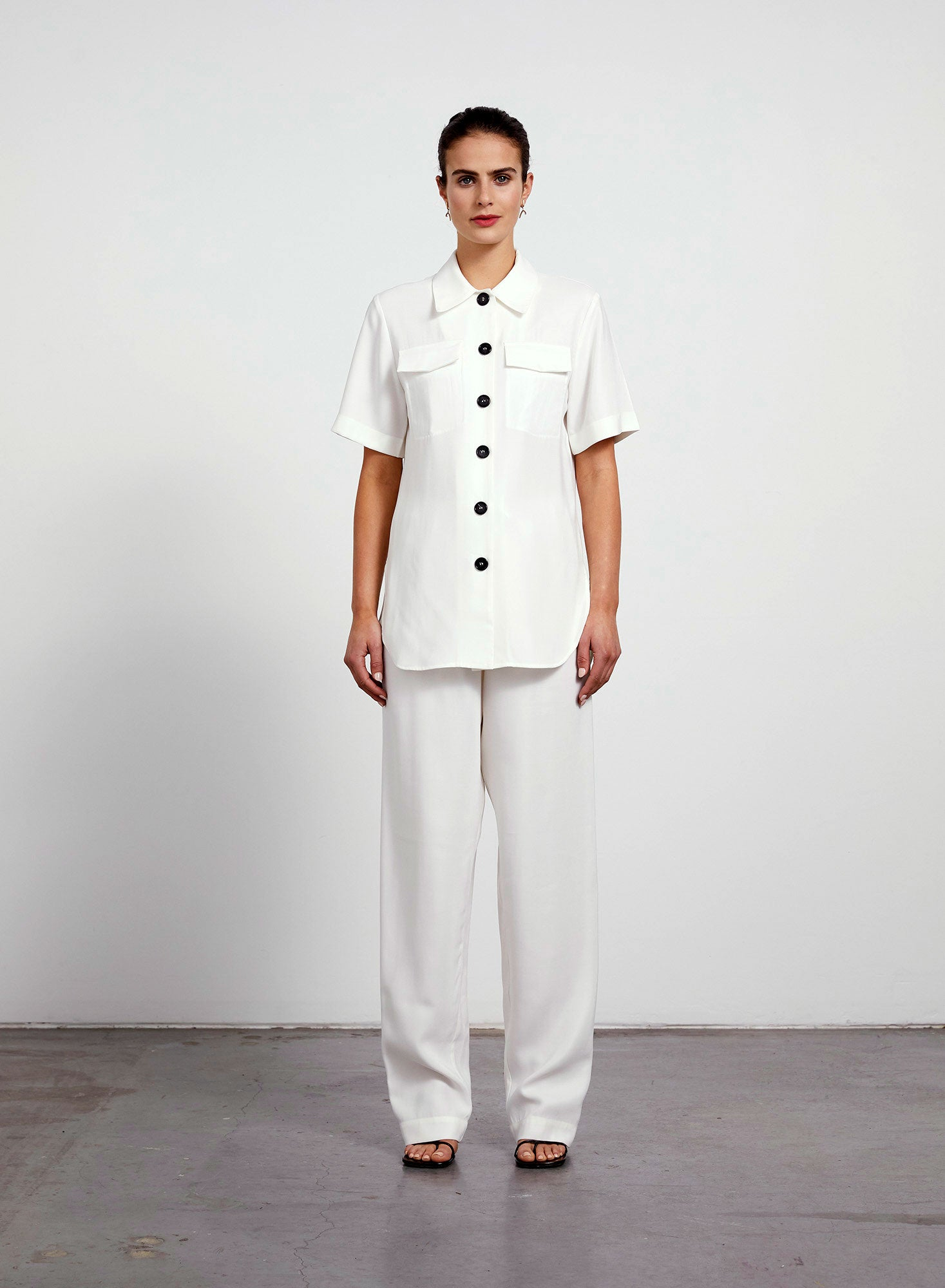 Welt Pocket Shirt - Ivory
