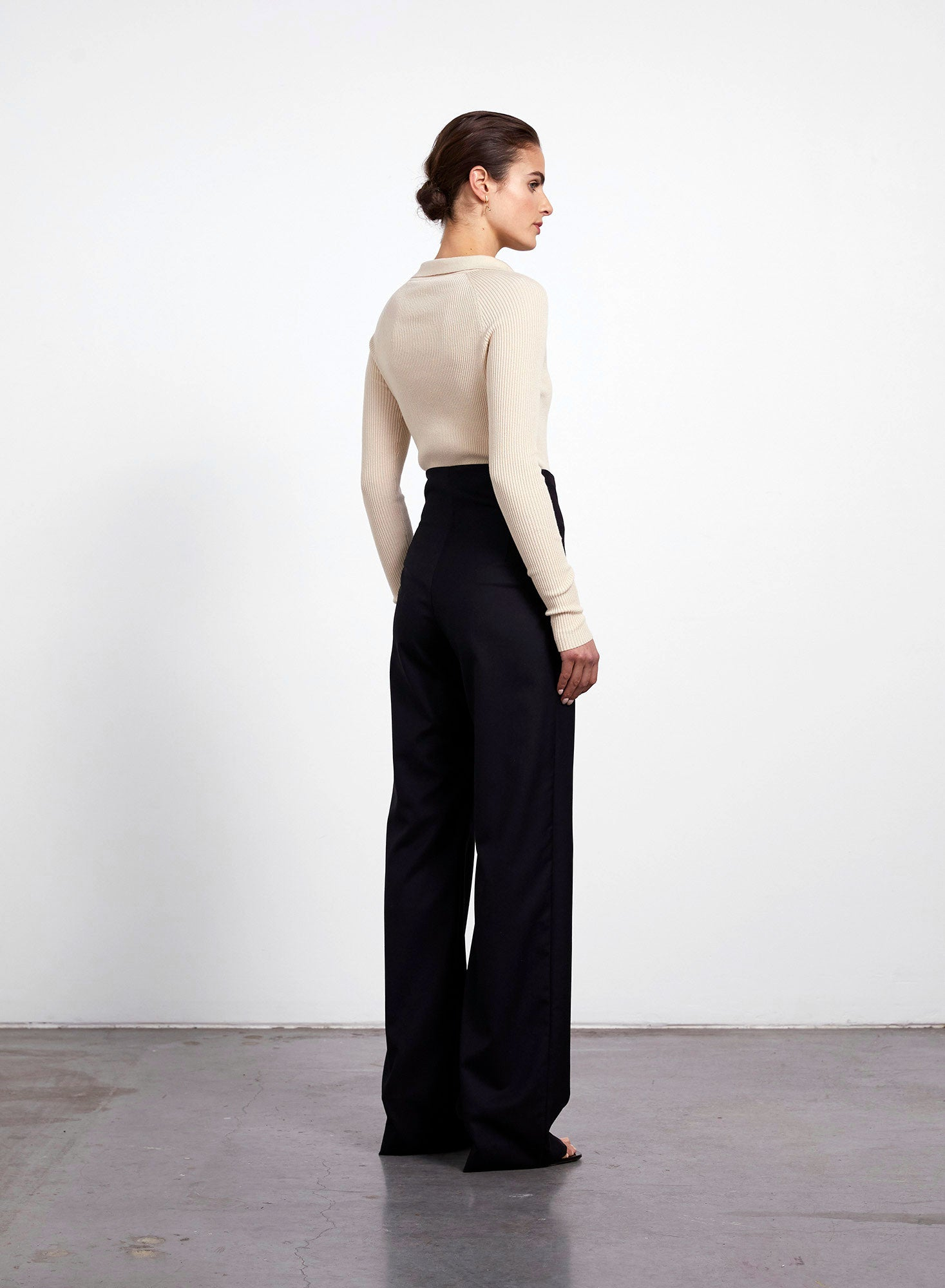 Ally High Waisted Trouser - Black