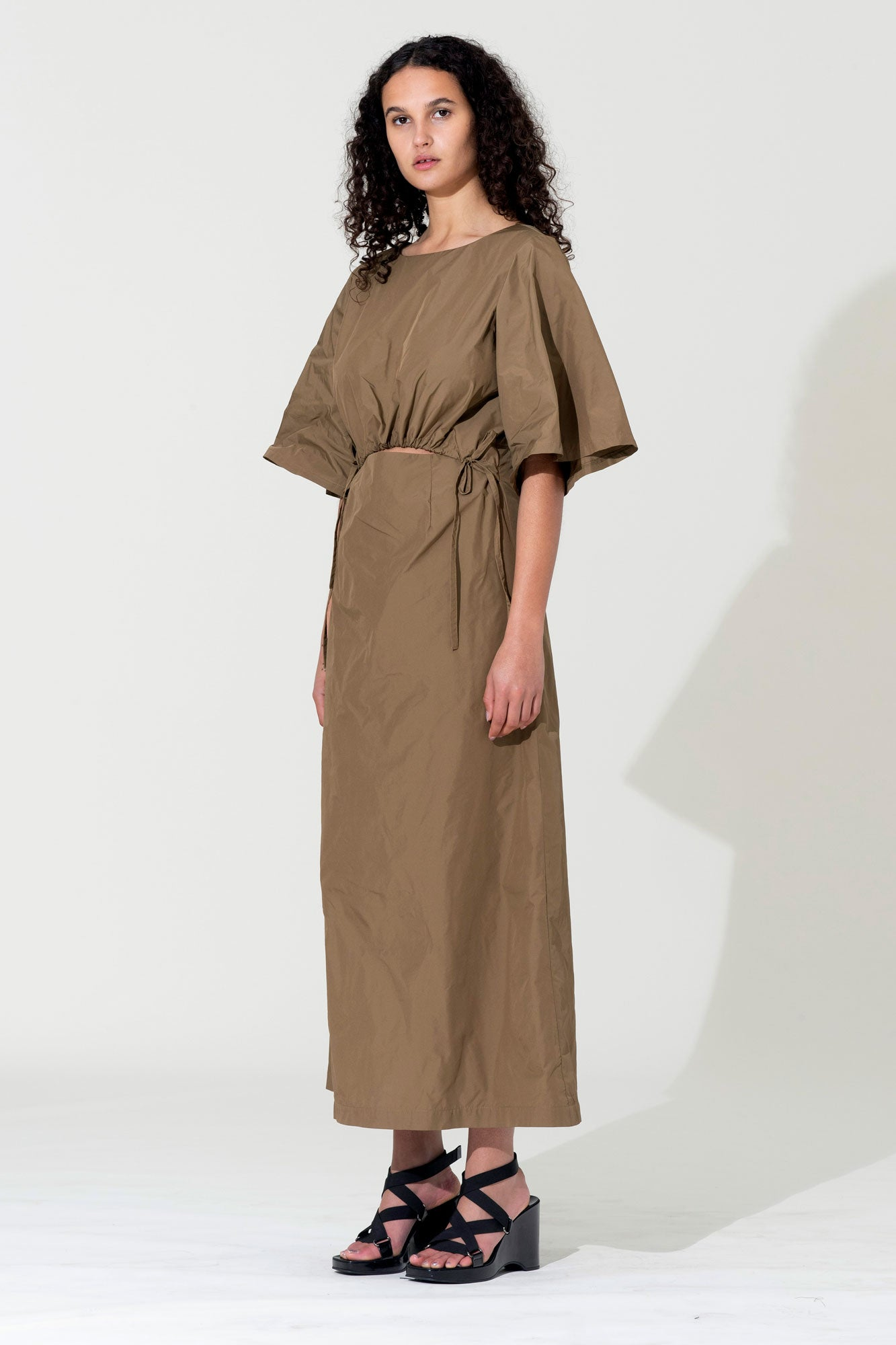 Scrunch Dress - Khaki