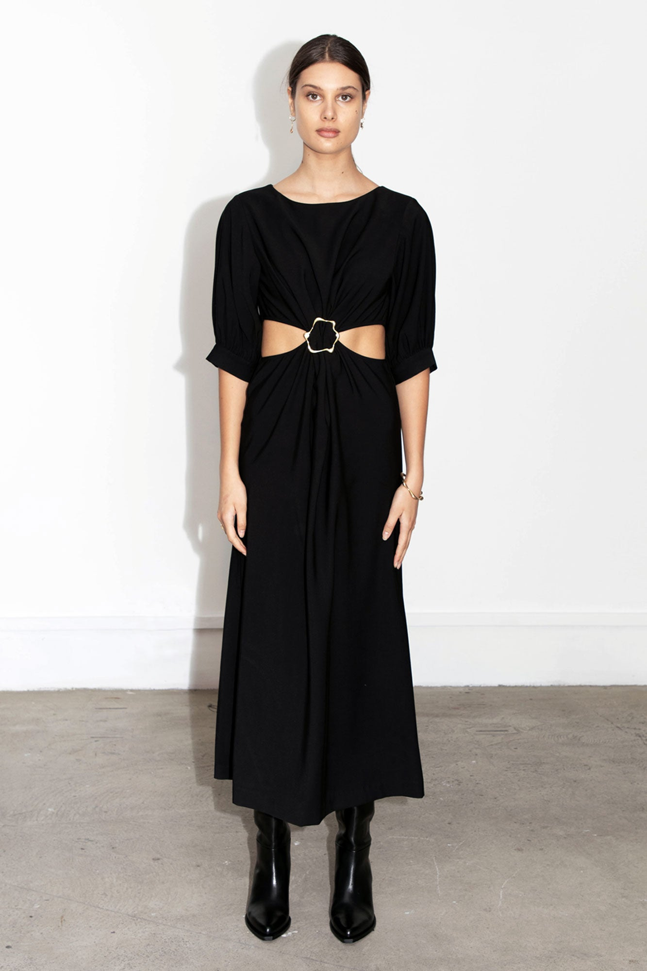 Joie Buckle Dress - Black