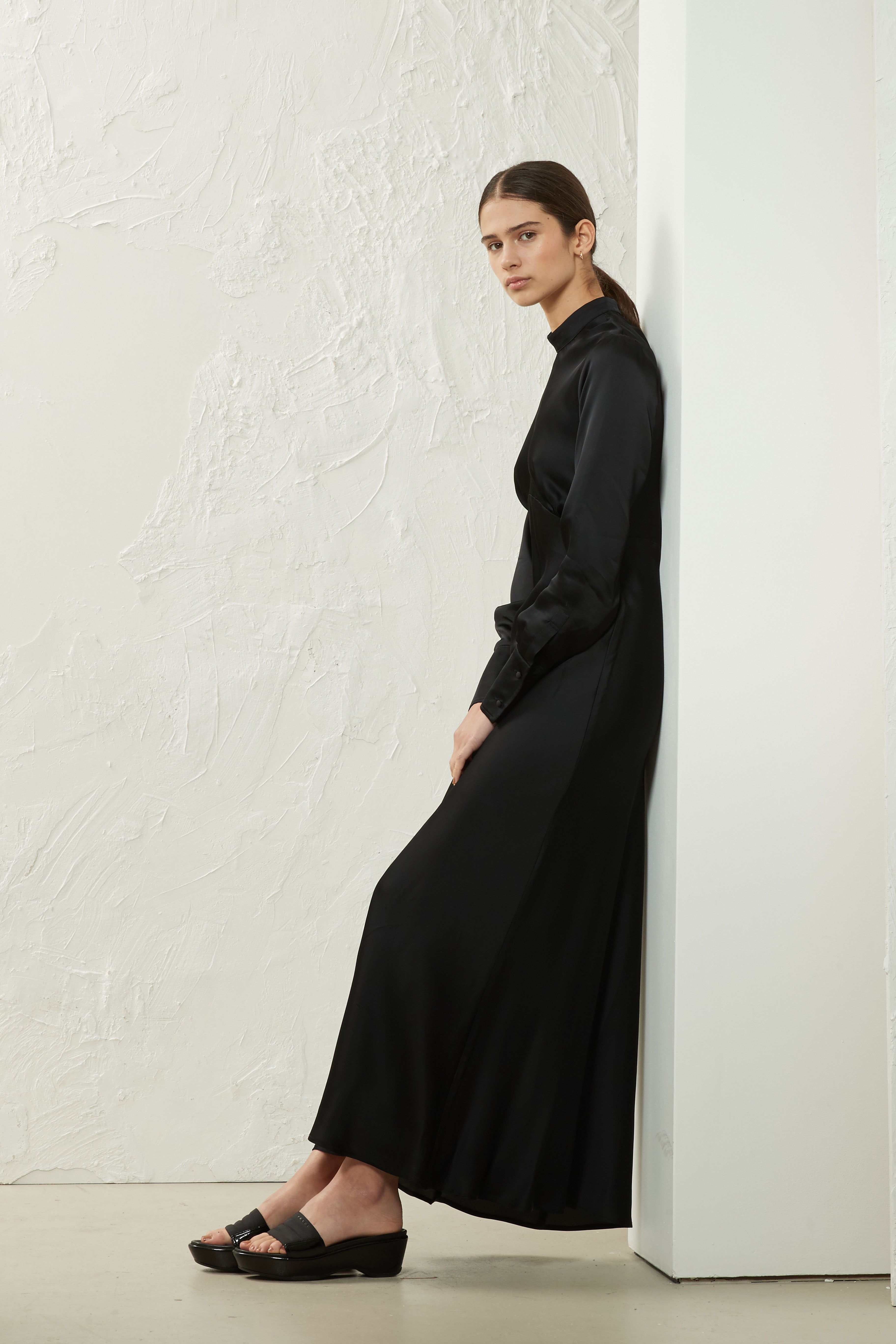Bias Maxi Dress Black - Wynn Hamlyn — Shop
