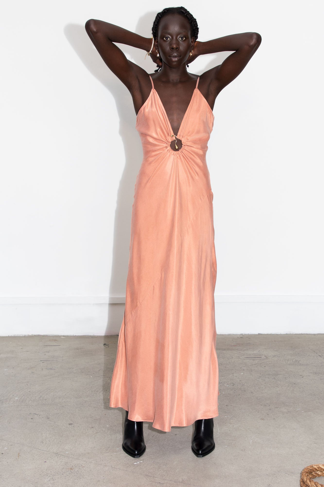 Moon Slip Dress - Blush