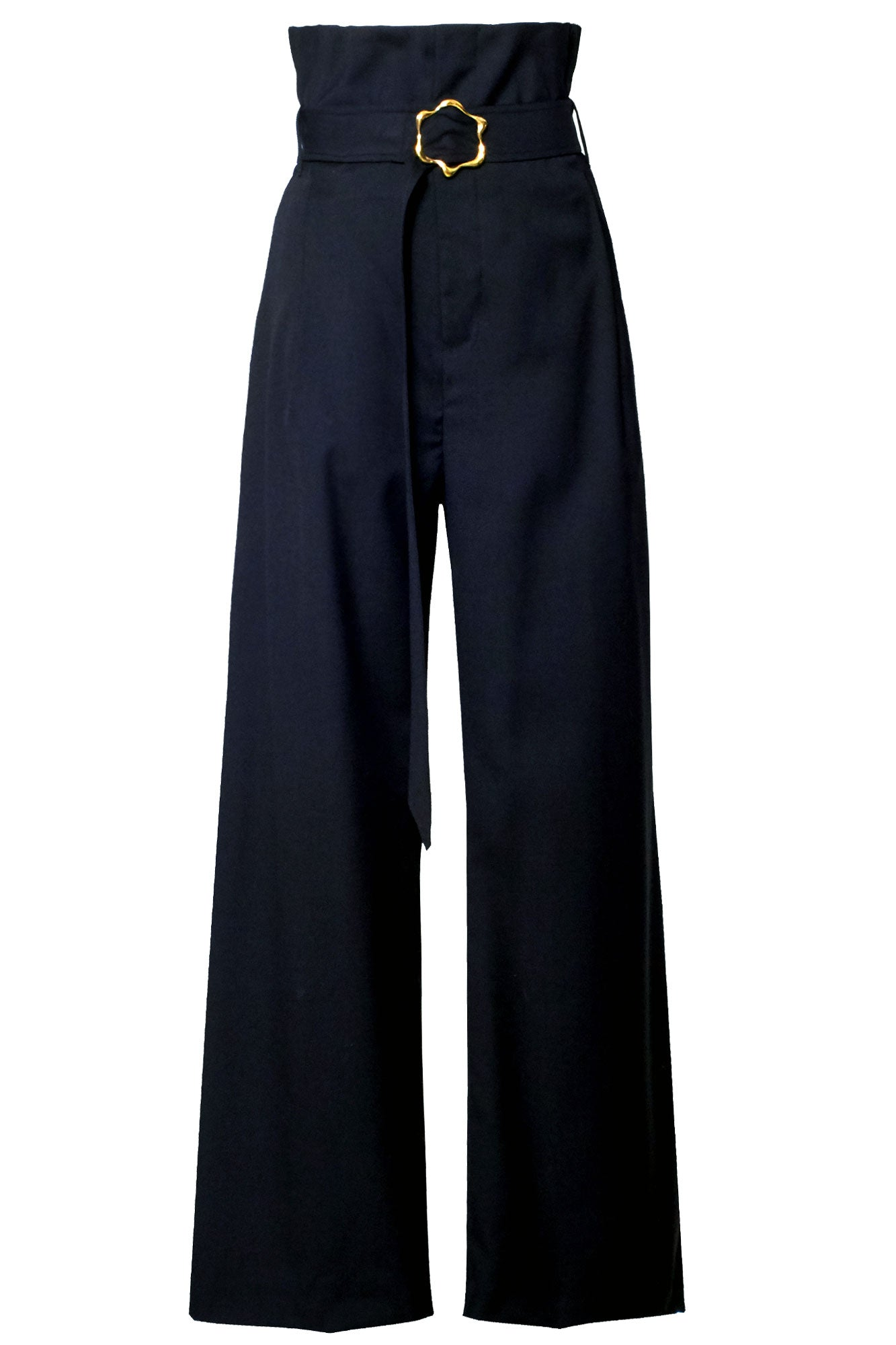Beam Buckle Trouser - Black