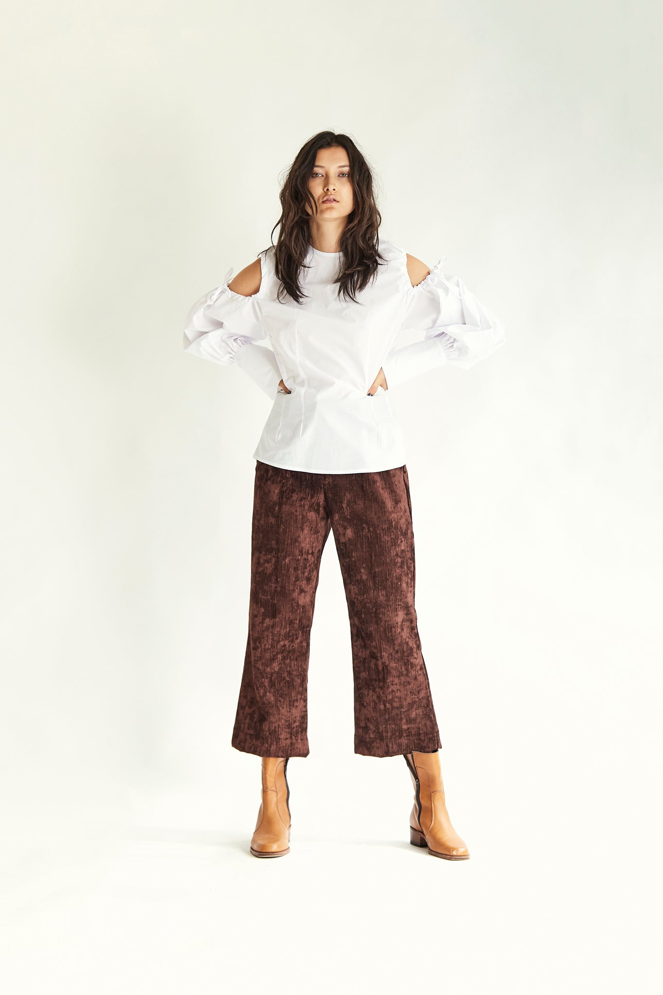 Bloom Blouse - White - Wynn Hamlyn — Shop