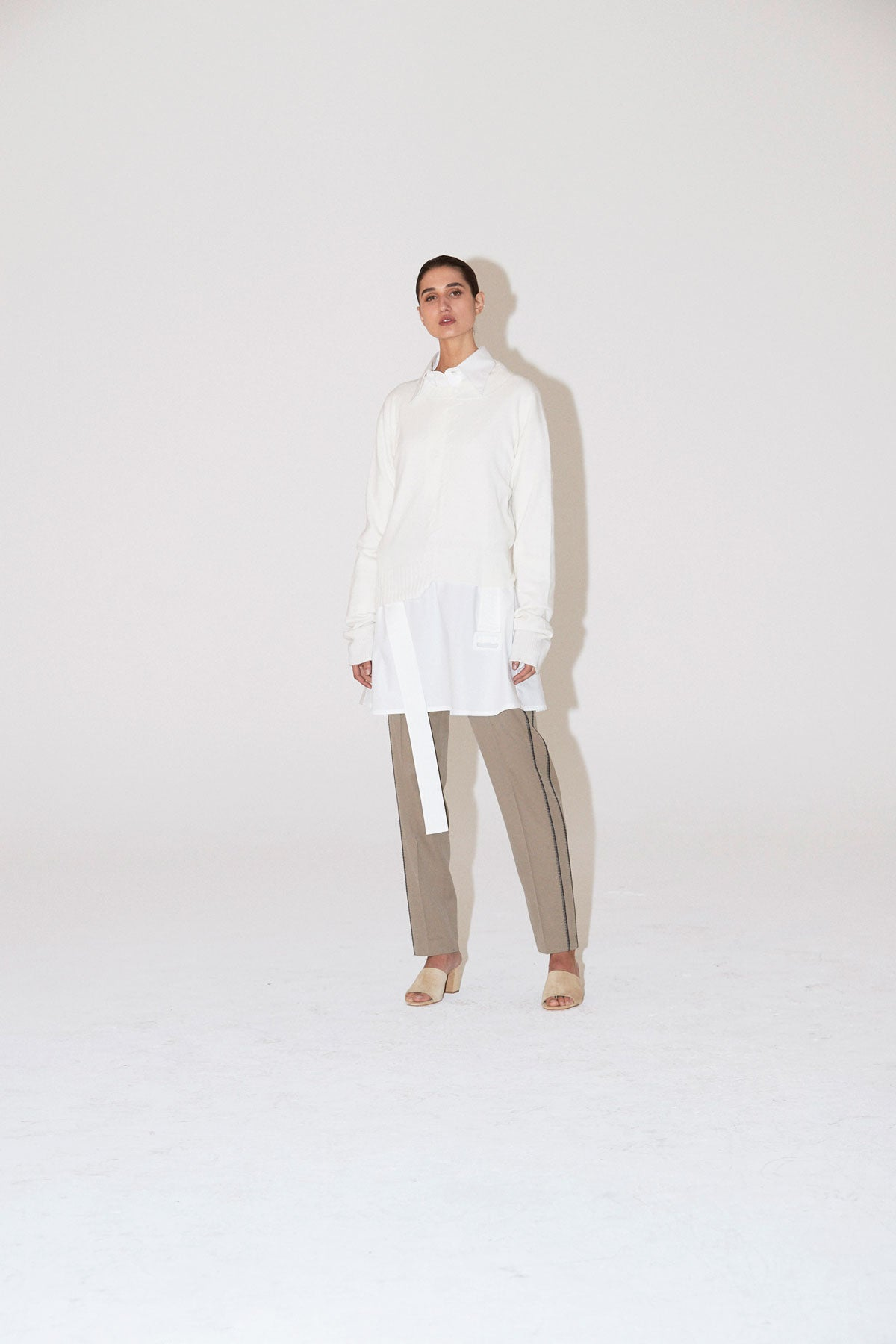 Research Shirt Dress White - Wynn Hamlyn — Shop