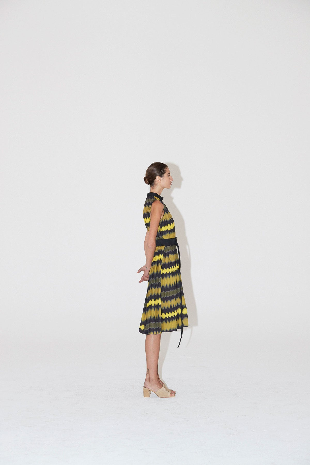 Ripple Pleat Dress Yellow - Wynn Hamlyn — Shop