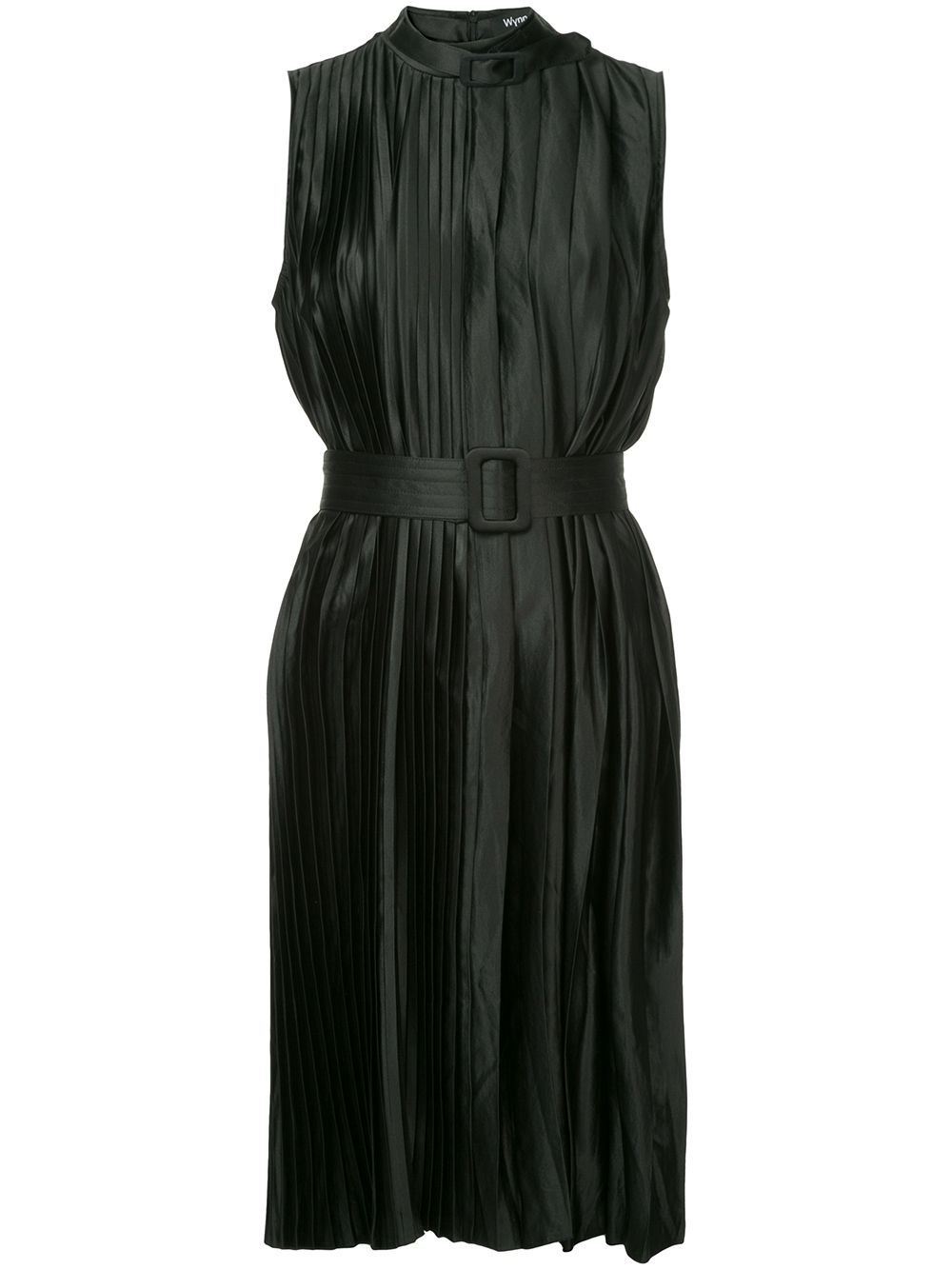 Ripple Pleat Dress Black - Wynn Hamlyn — Shop