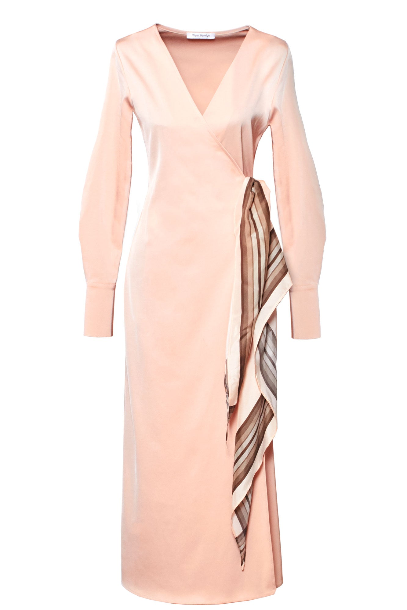 Scarf Wrap Dress - Blush