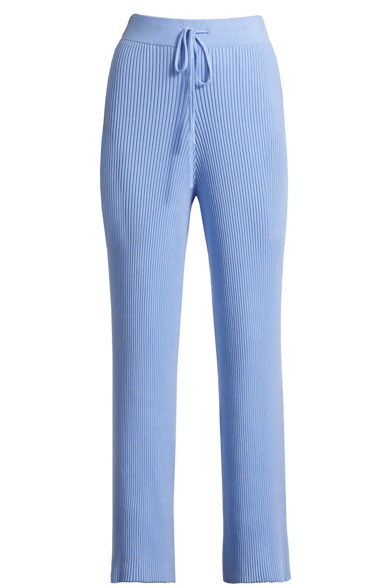 Ribbed Knit Pants - Cornflower