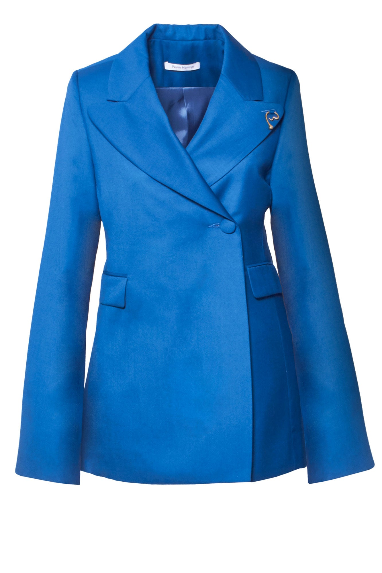 Double Breasted Beam Blazer - Cobalt