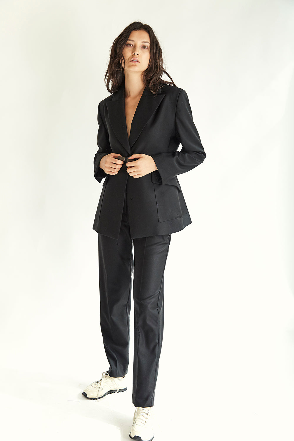 Clarke Toggle Blazer - Black - Wynn Hamlyn — Shop