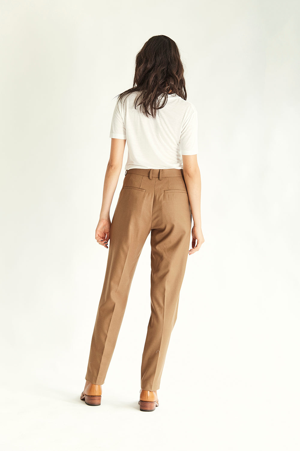 Manchester Fitted Trouser - Tan - Wynn Hamlyn — Shop