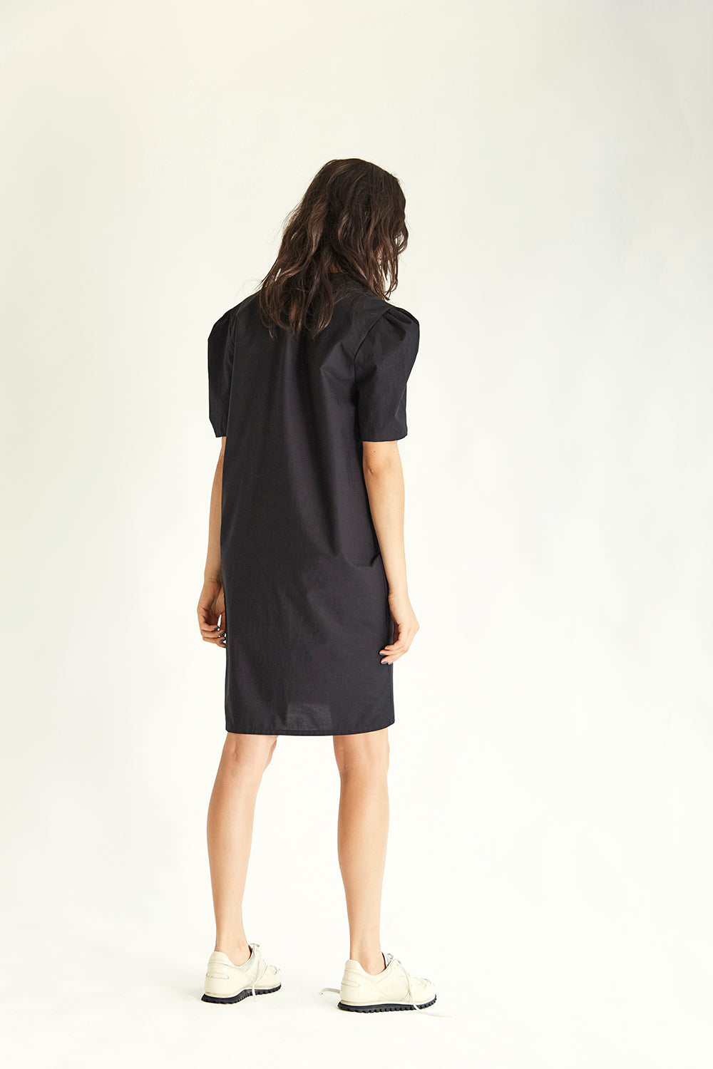 Walker Cotton Dress - Black - Wynn Hamlyn — Shop