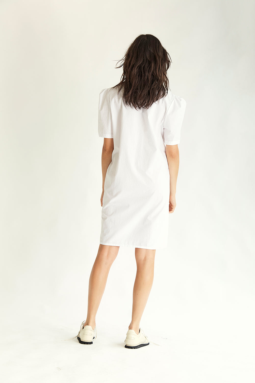 Walker Cotton Dress - White - Wynn Hamlyn — Shop