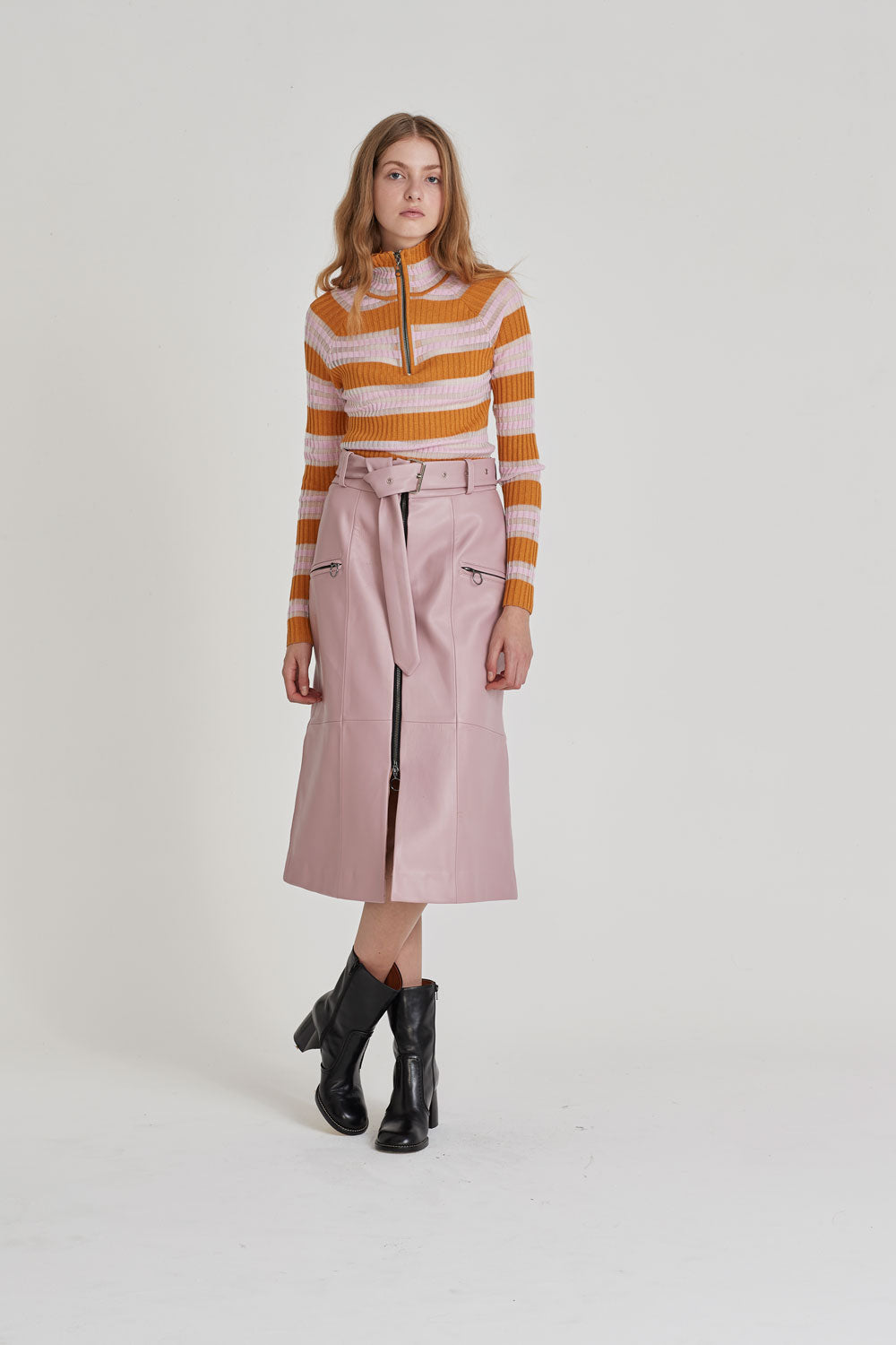 Harlow Sweater Pink/Orange - Wynn Hamlyn — Shop