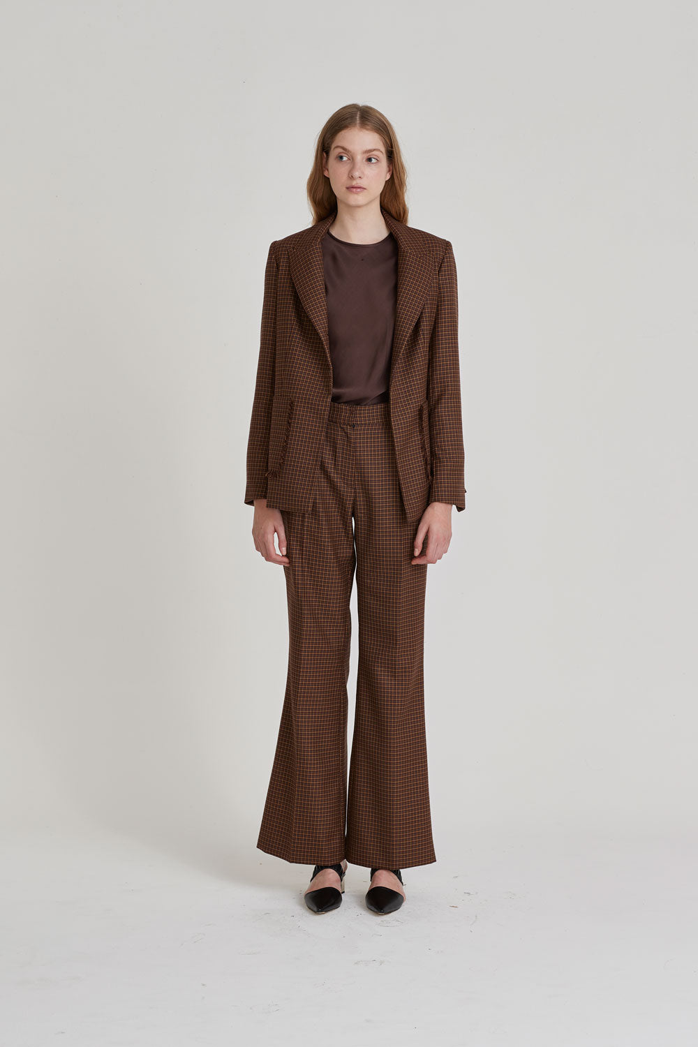 Operator Trouser Brown Check - Wynn Hamlyn — Shop