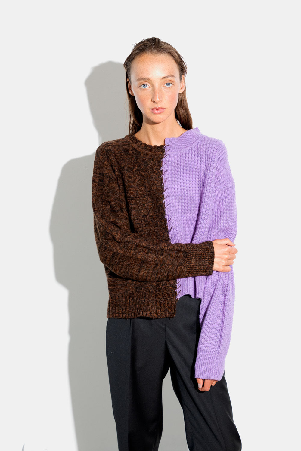 Basket Stitch Sweater - Dust