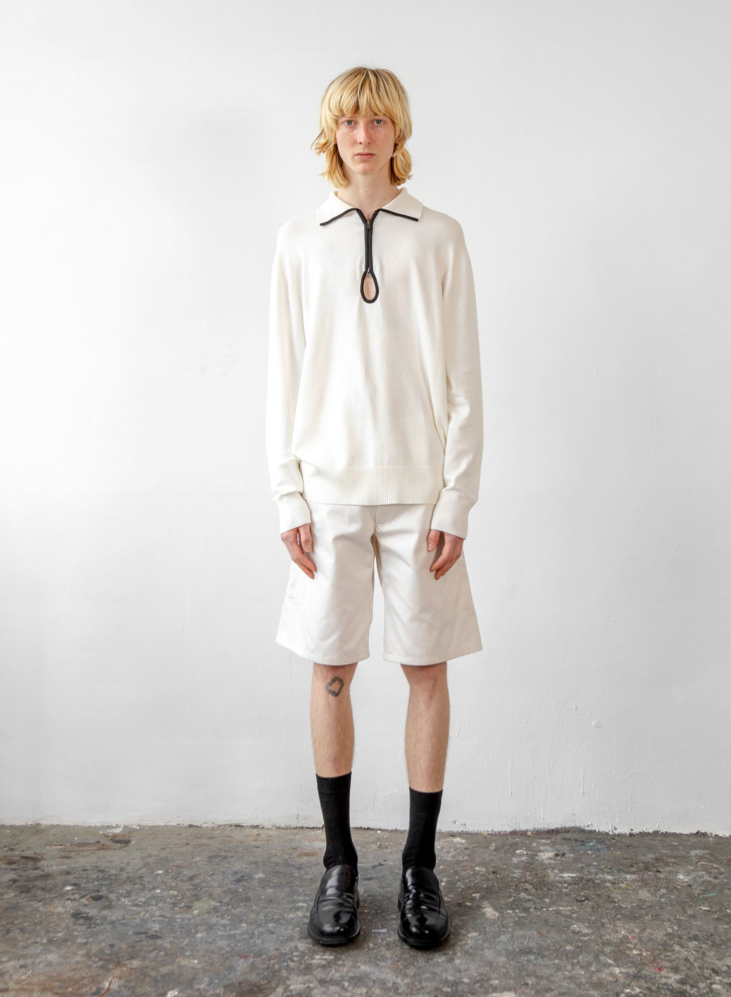 Key Hole Polo - Ivory