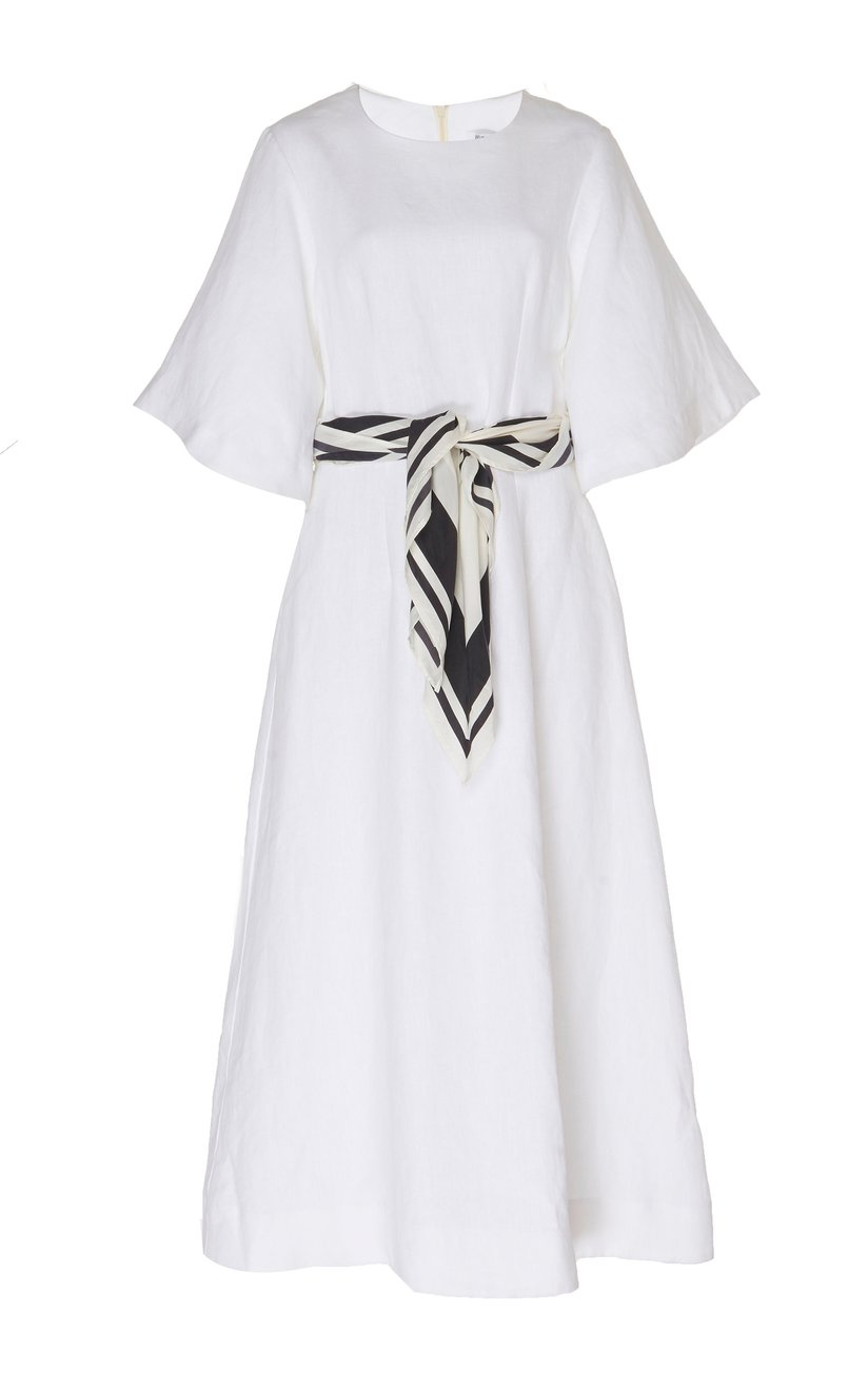 Scarf Maxi Dress - White