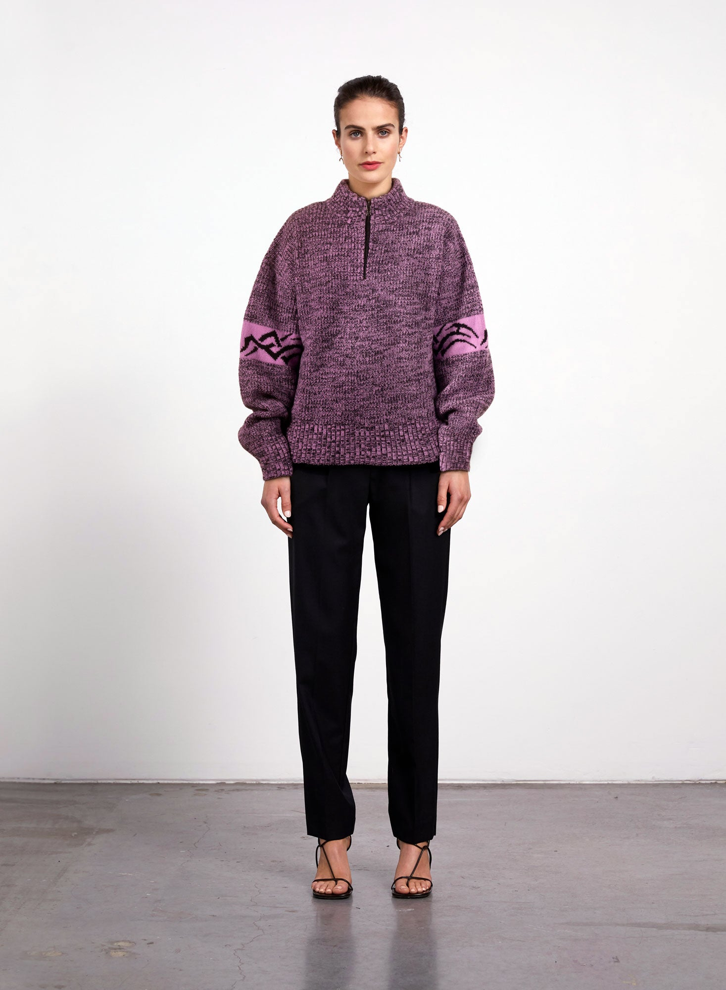 Chrystal Voyager Sweater - Purple Melange