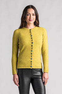 Merinomink 1736 Shell cardigan - Golden Pearl