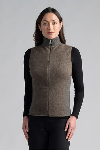 Merinomink Mt Cook Vest 1870 - Pebble/Sea Mist