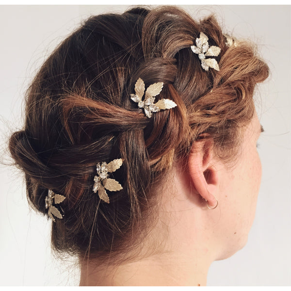 AMY LEAF HAIR PINS