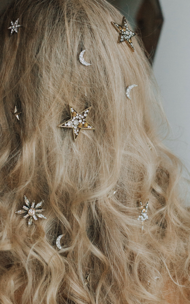 CALLISTO MOON HAIR PINS