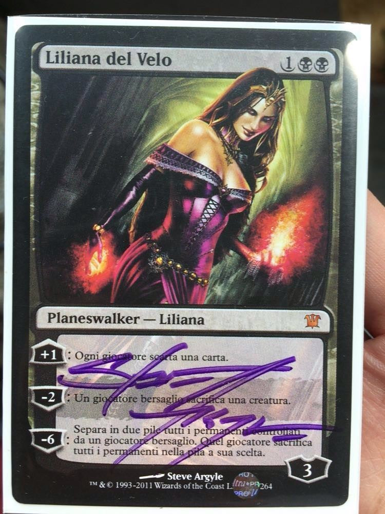 Liliana of the Veil Signed in Paris
