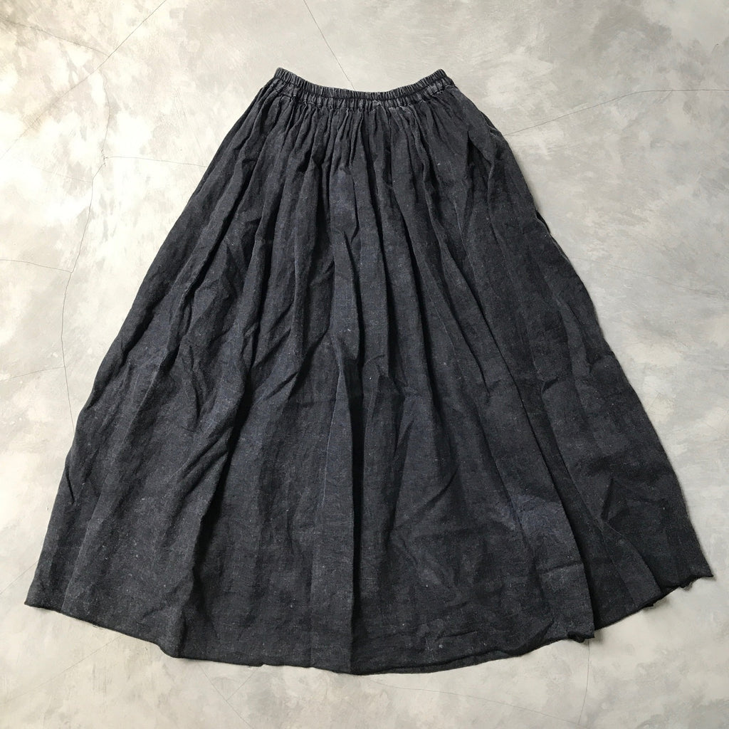 MAWAR [rose] - hand dyed & stonewashed linen skirt