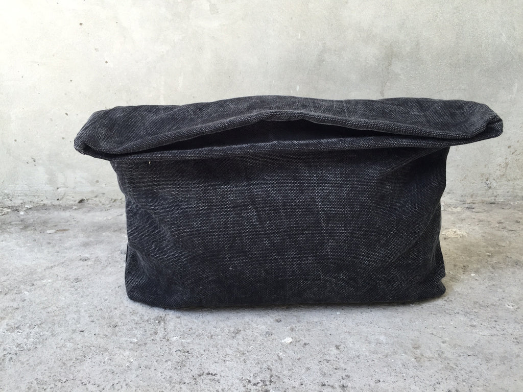 handmade and stonewashed clutch